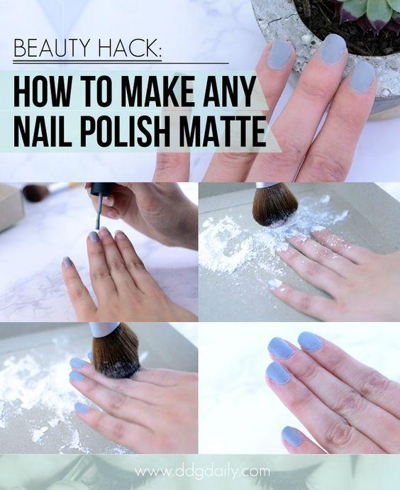 Matte nail polish beauty hack   Matte nail polish, Matte nails and ...