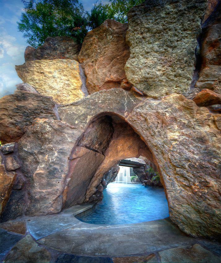 Water Caves- Grotto Custom Pool