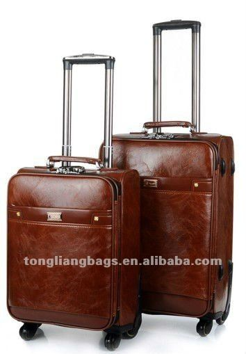 a5a27b53f2 2014 The classical PU polo travel trolley luggage set 1.MOQ 500pcs  2.delivery time 25days 3.payment term T T 4.color any
