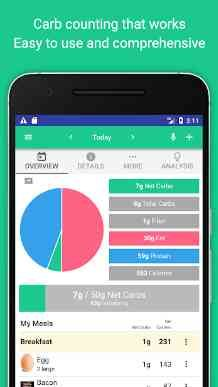 Carb Manager is the world's easiest and most comprehensive