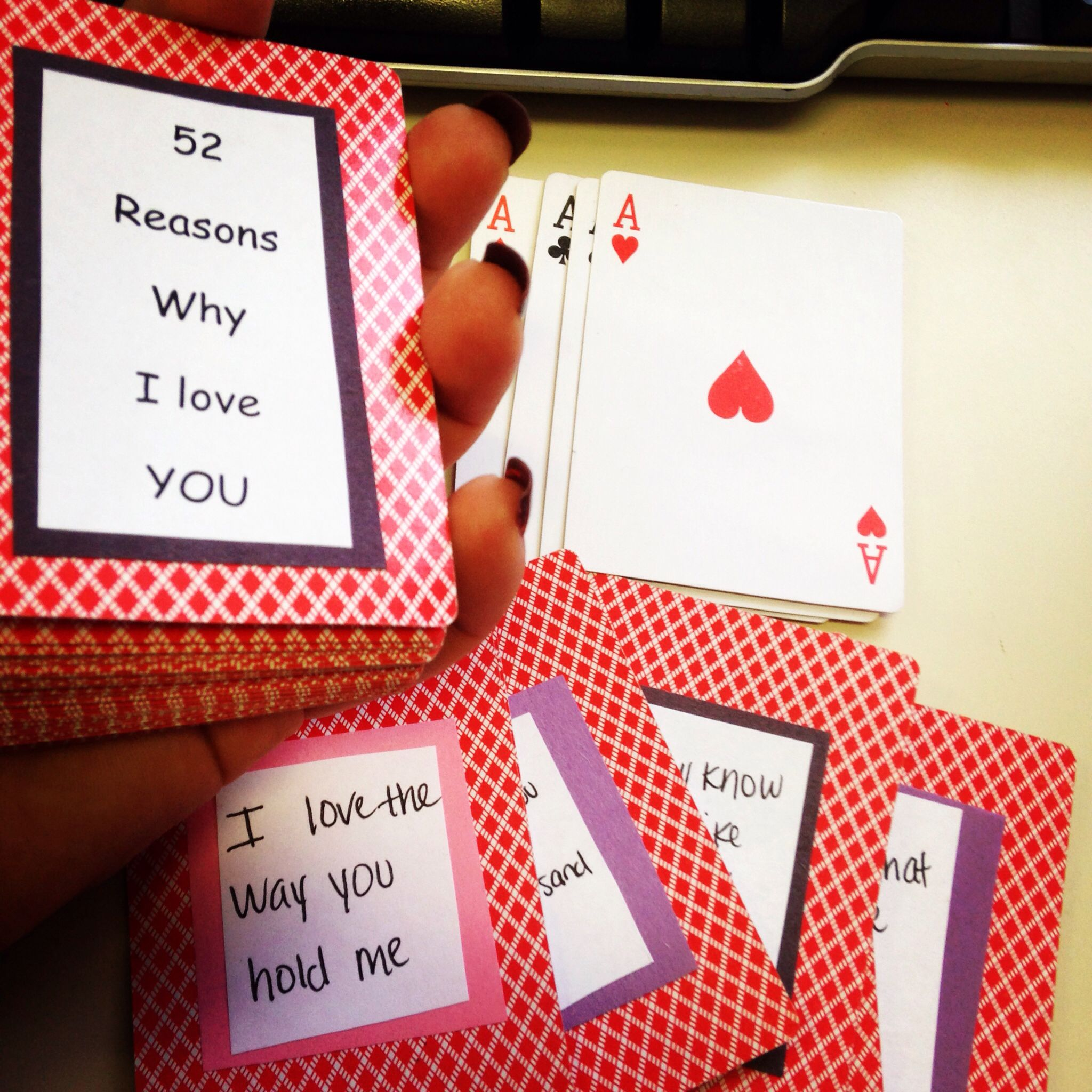 Anniversary Gift Made Special Playing Cards 52 Reasons Why I