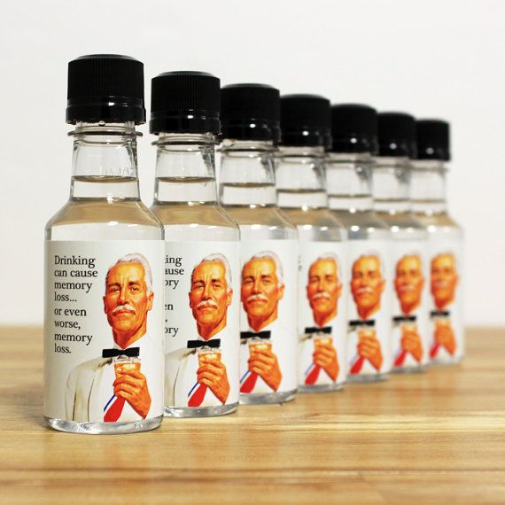50th Birthday Liquor: Mini Bottle Party Favors Adult Birthday Liquor By