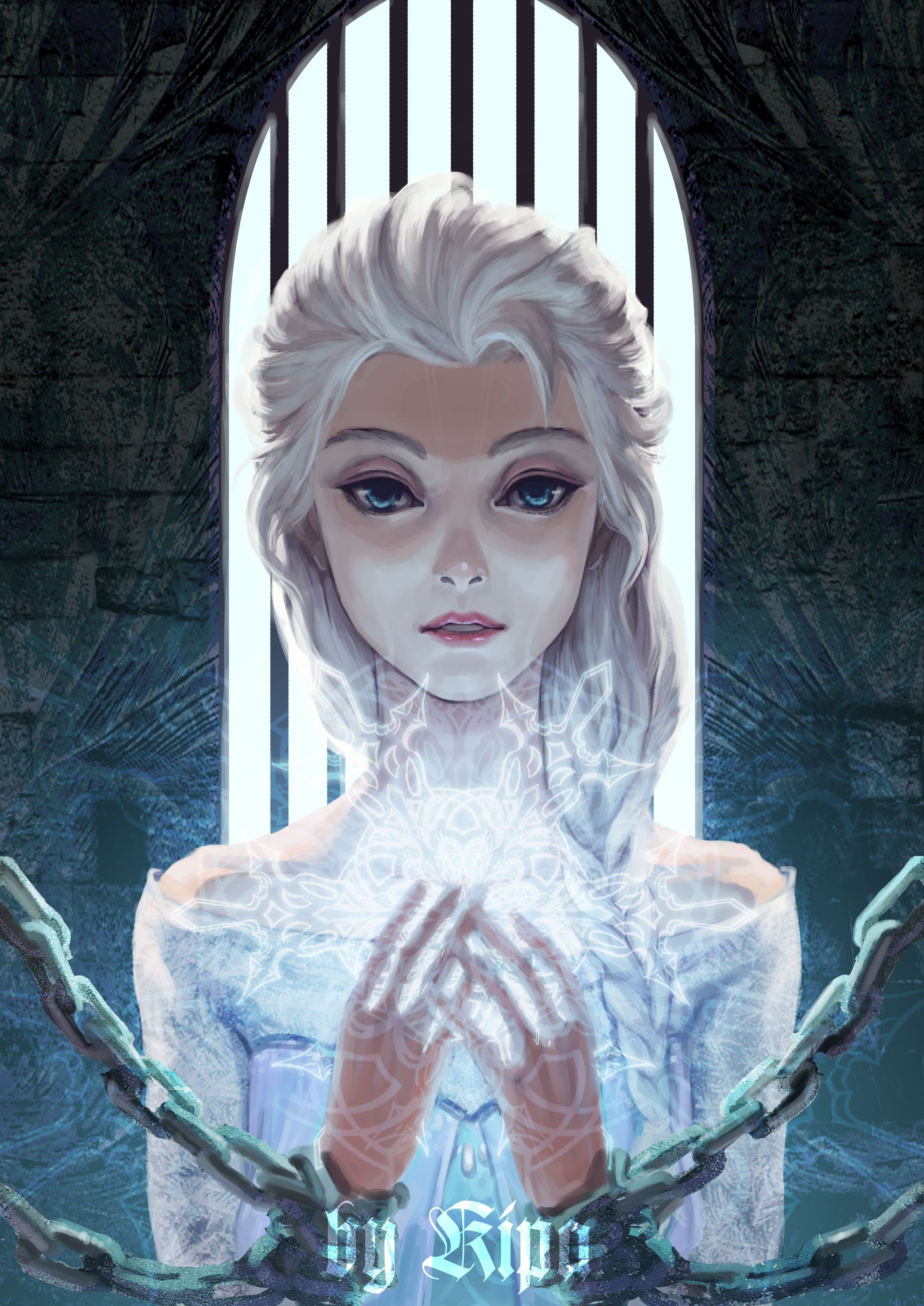 Walt Disney animation movie enchanting fairytale Frozen, Elsa, Art ...