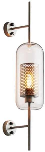 Copel Kinkiet Lampa Scienna Cglutkinkiet Copel Industrialna Oprawa Loftowa Szklana Antyczny Mosiadz Przezroczysta Cglutkinkiet Ceny I Opinie Na Skapiec Pl Wall Lights Lamp Sconces
