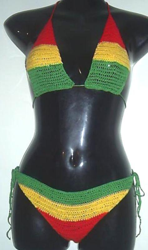 Handmade crochet dress 02 Jamaican colors | Crochet summer