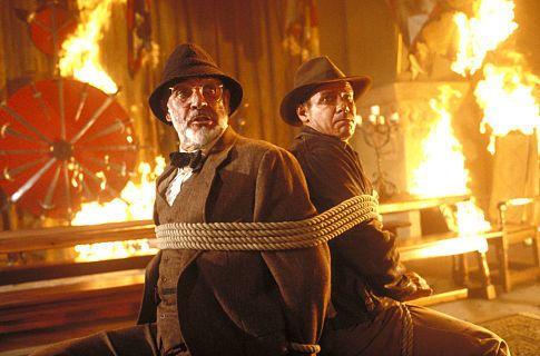 Sean Conneryn kehyscharmia Viimeinen Ristiretki-elokuvassa. Toivottavasti linsseissä oli kuumutta kestävä pinnoite...