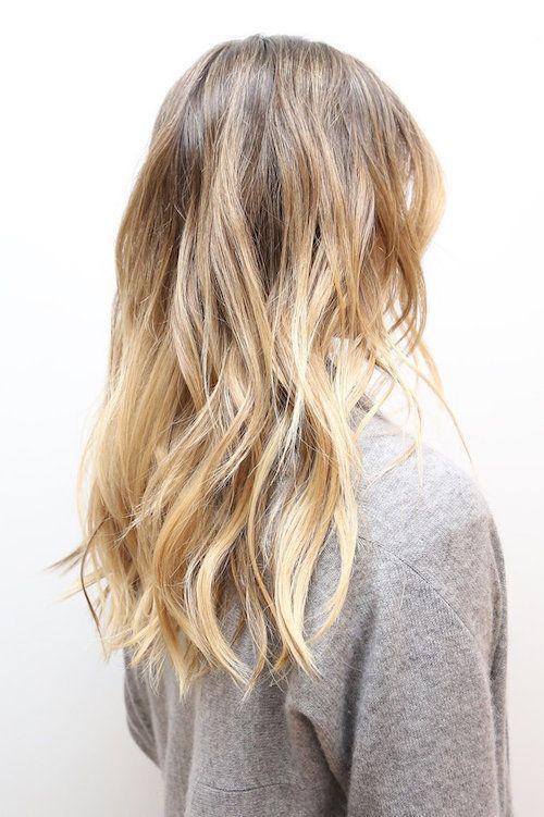 Coupe pour cheveux long blond