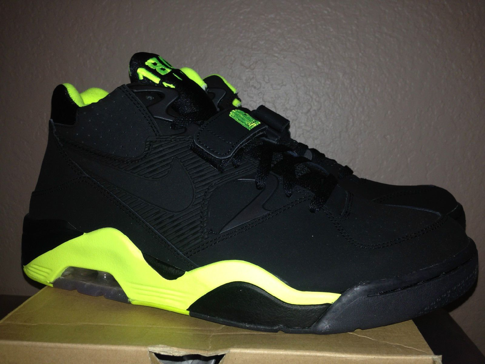 b3b7531714 Nike Air Force Max 180 Retro Barkley Black Volt Neon Posite Godzilla 310095  012