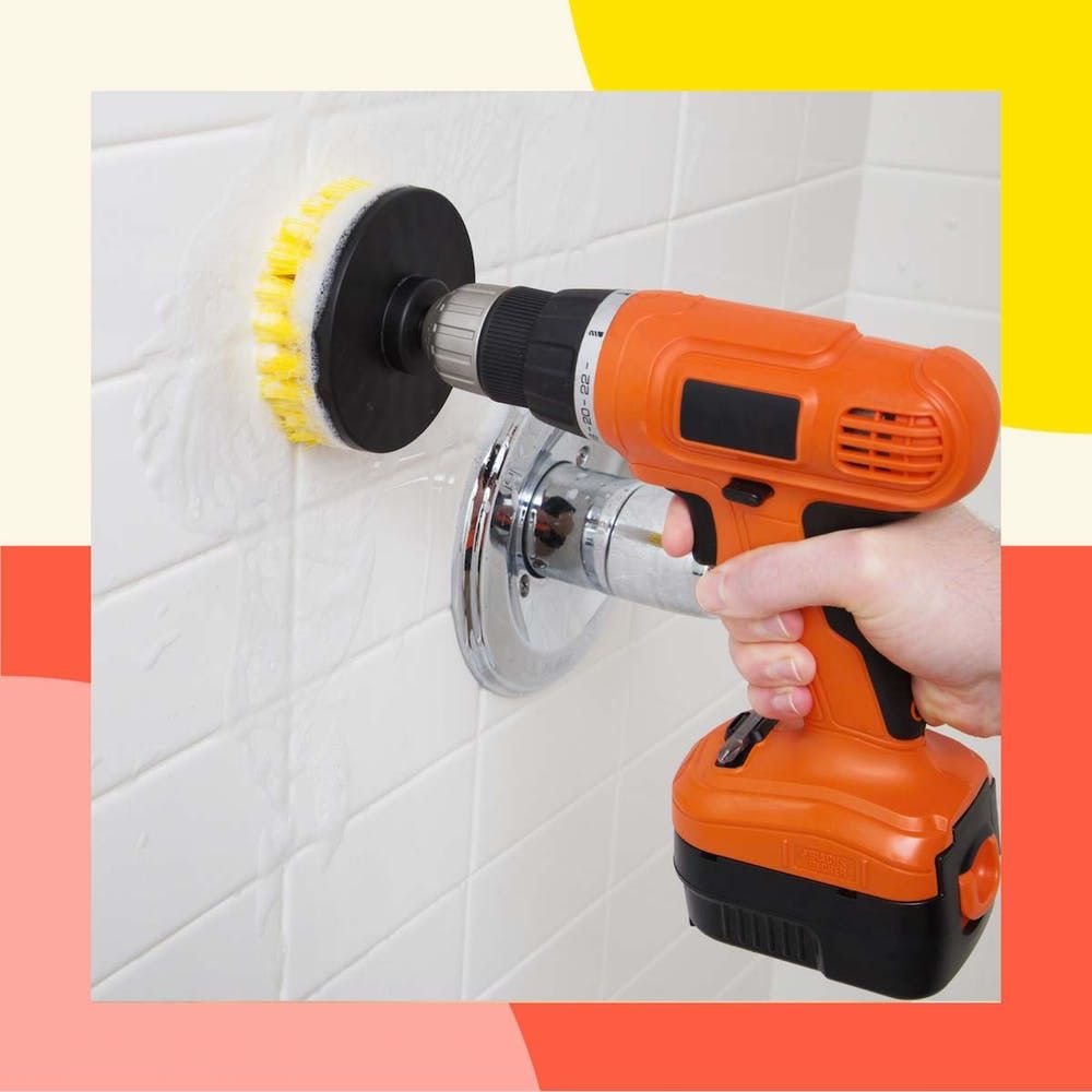 The Drill Cleaning Brush Set Is Your New Bathroom Cleaning