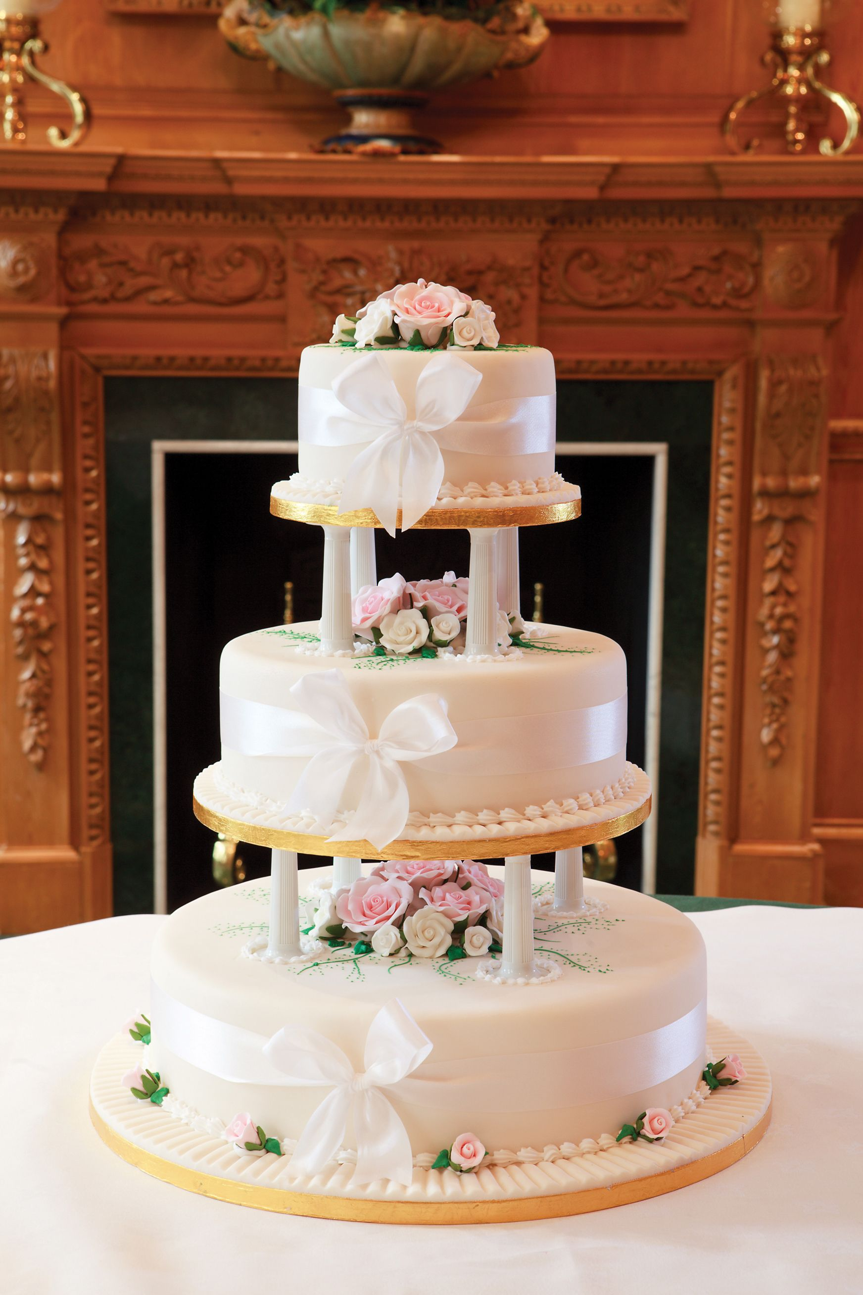 Traditional Looking Wedding Cake But Created With Patisserie Valerie Famous Gateau Sponges And Fillings Order