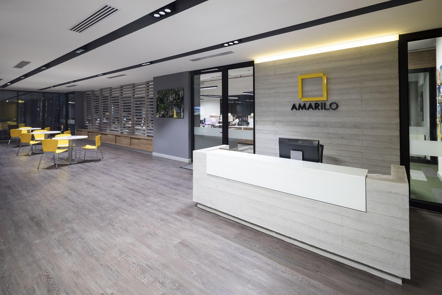 Recepci n de amarilo panam dise o arquitectura e Diseno de ambientes y arquitectura de interiores