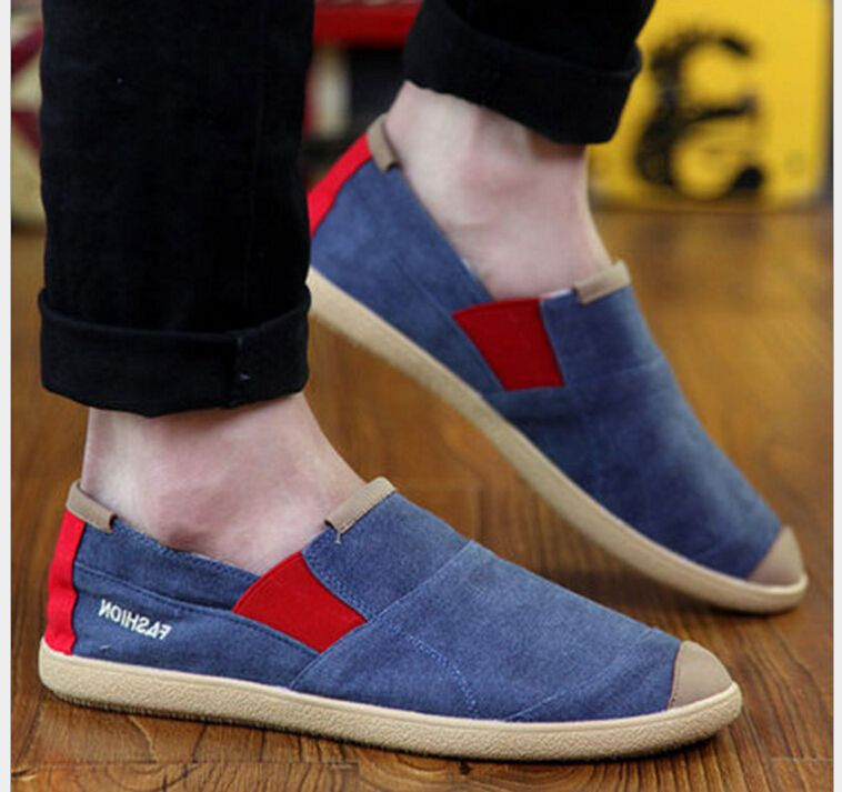 >> Click to Buy << 2017 Spring Summer New Fashion casual shoes Slip-On washed denim canvas shoes High quality men's shoes #Affiliate
