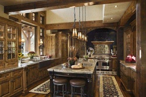 Fotos de Cocinas Clásicas con Muebles de Madera cocina Pinterest