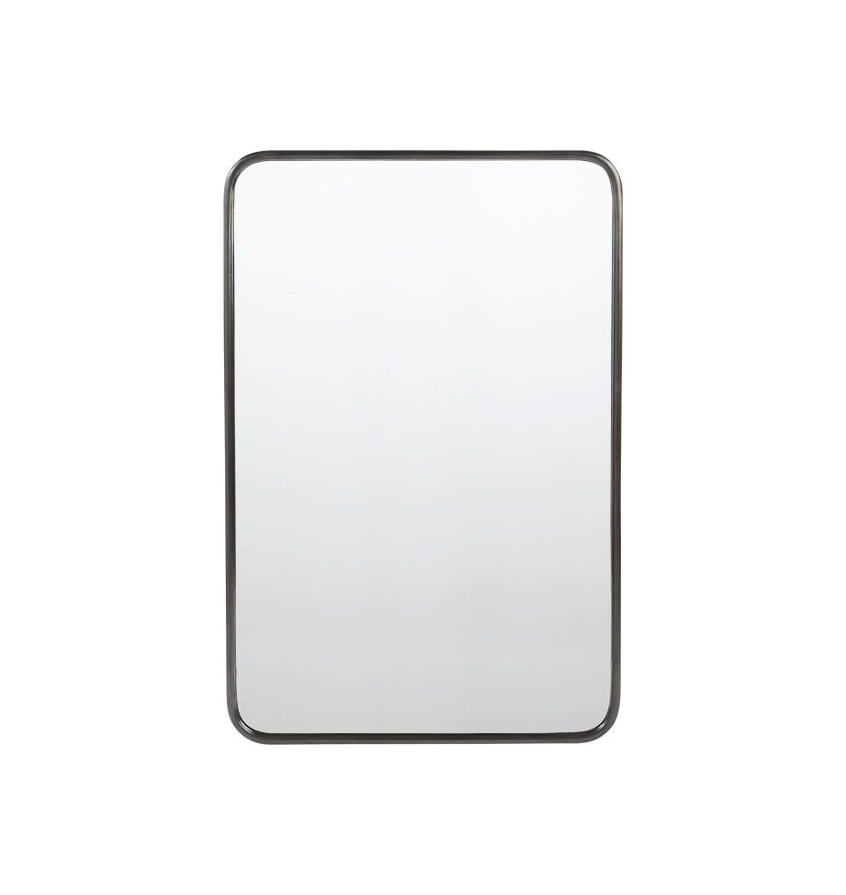 20 X 30 Oil Rubbed Bronze Rounded Rectangle Metal Framed Mirror