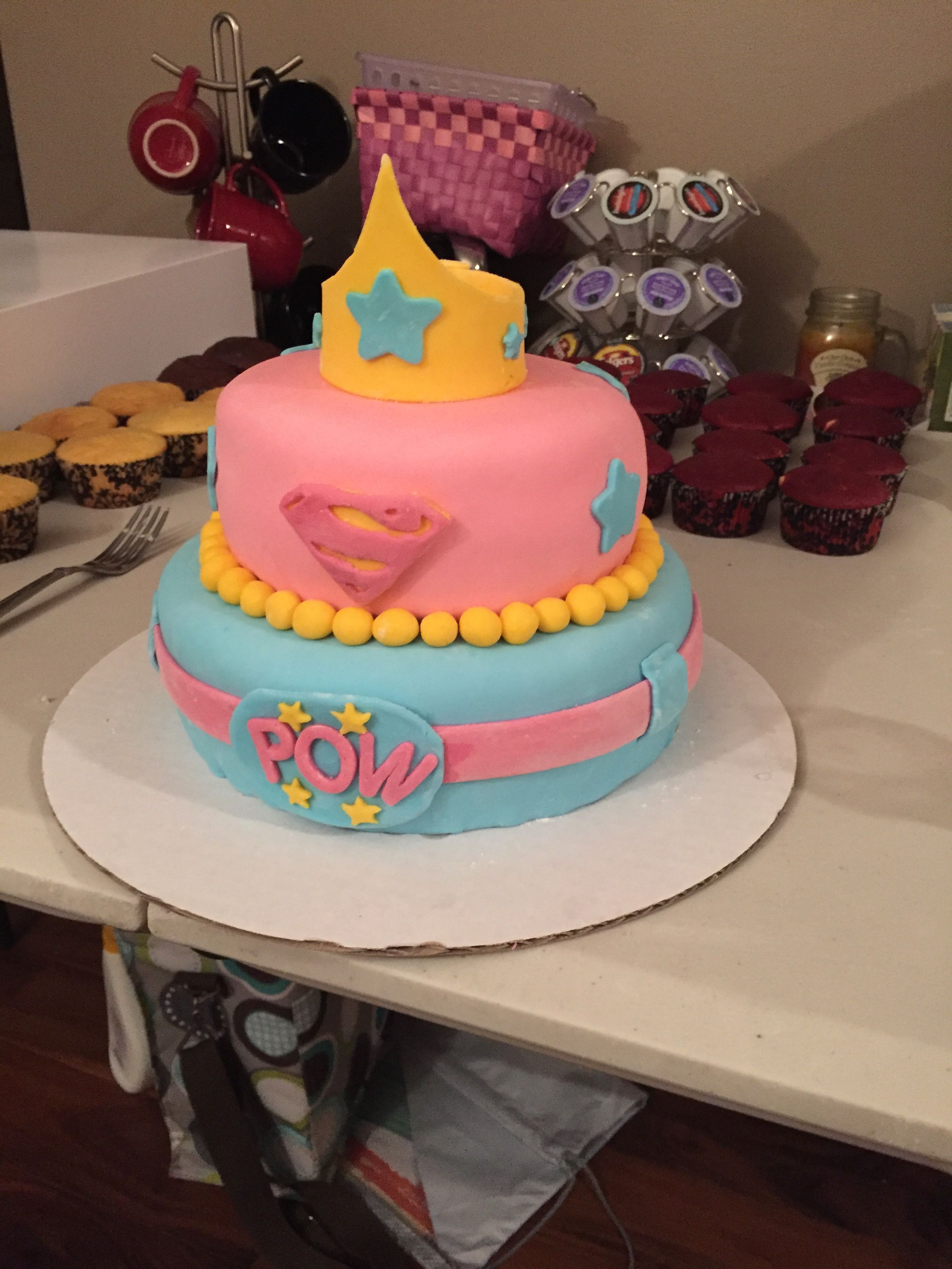 Super Super Hero Cake For Girl Girls Birthday Party Girl Cakes Funny Birthday Cards Online Aeocydamsfinfo