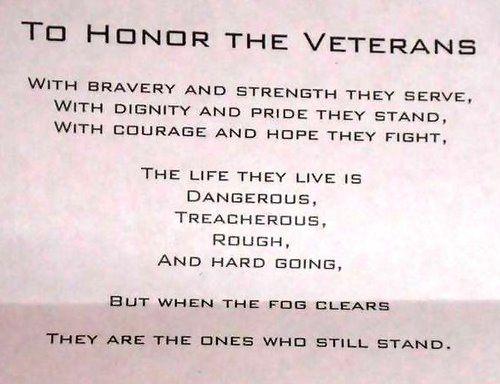 Poems Honoring Veterans 3