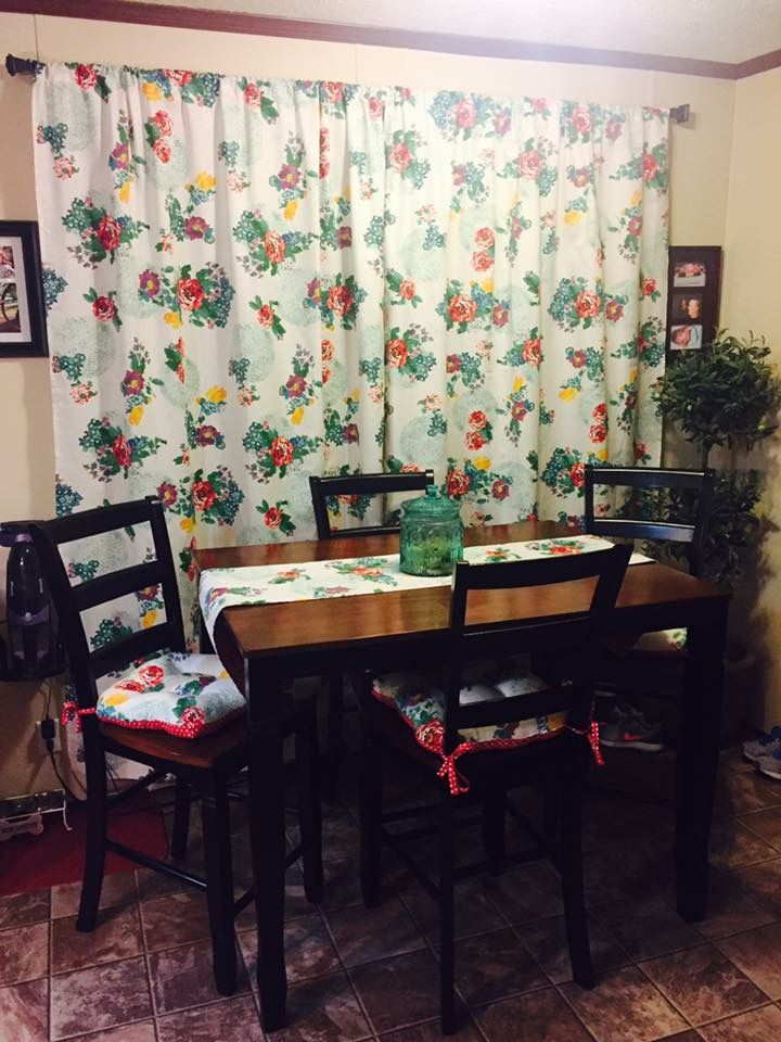My Pw Curtains Mom Made Me From Tablecloths Country Garden