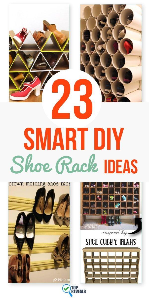 23 Smart DIY Shoe Rack Ideas Diy shoe rack, Shoe rack