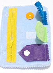 Quiet Book Closure Add on Page – Playbook – Toddler Toy – Funny Gift – Church Quiet Book – Kita Toy – # QB1 Learn