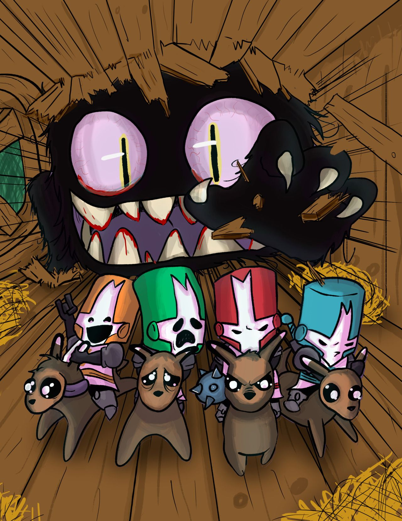 Castle crashers fanart cartoon toon the behemoth - Castle crashers anime ...