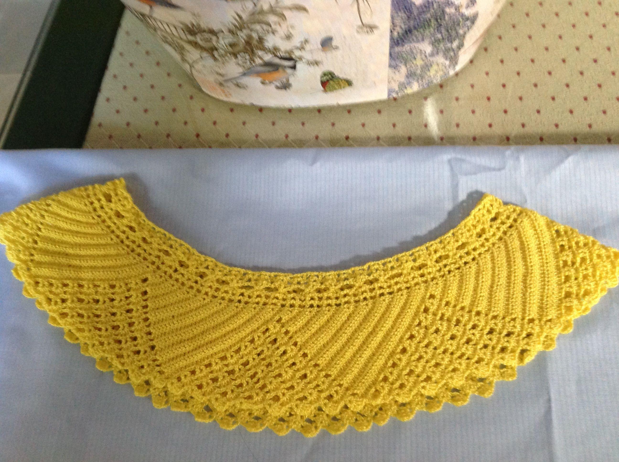 Canesú de crochet para vestido o camisón de niña. | Lugares que ...