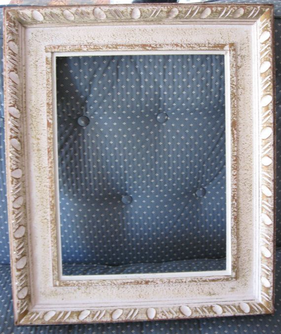 Vintage Shabby Chic Frame Gold and White 1960 Era Very by MOJEART ...