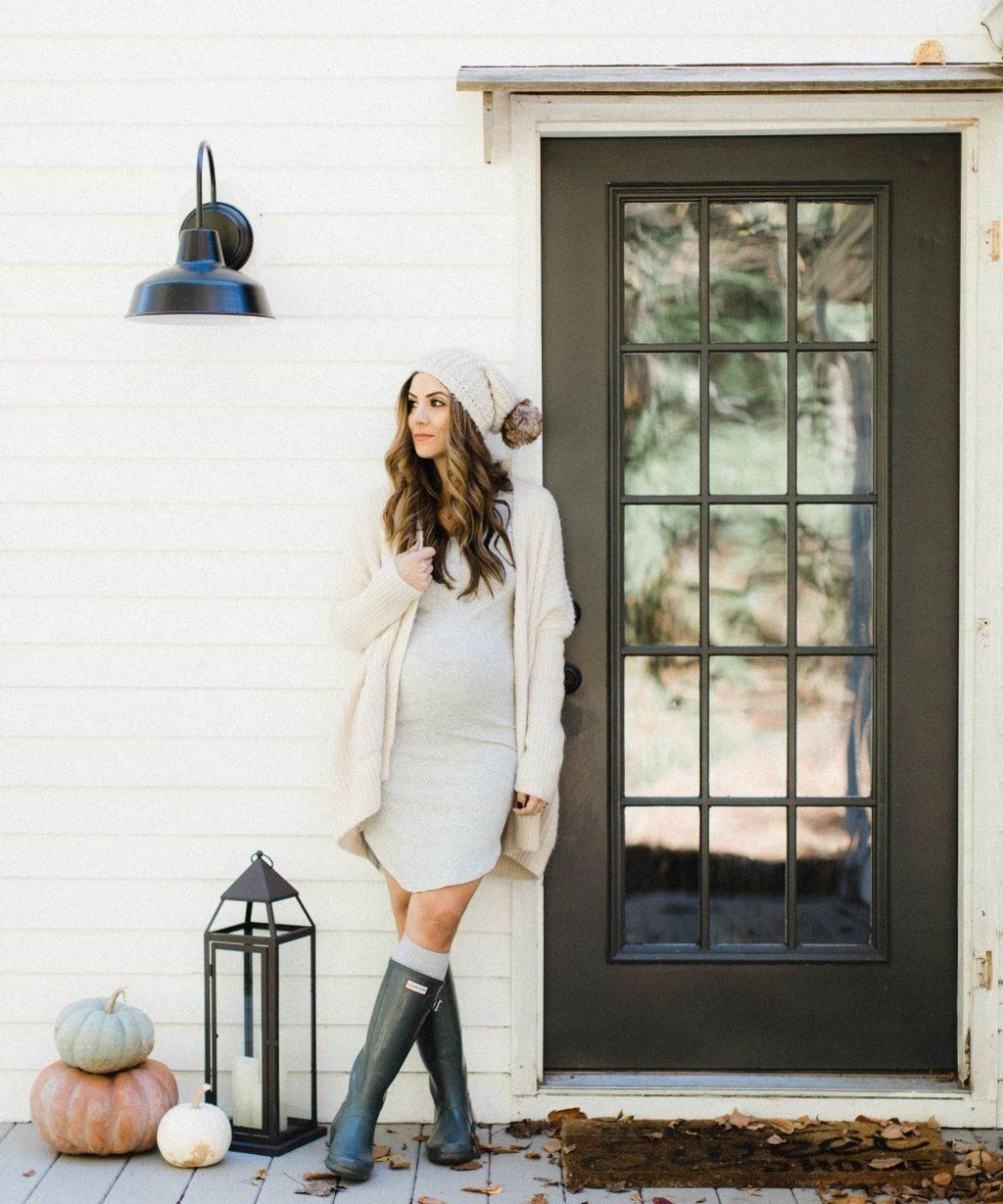 e97a707d3c897 50 Cute Maternity Outfits Ideas For Winter | Baby Bump Style | Cute ...