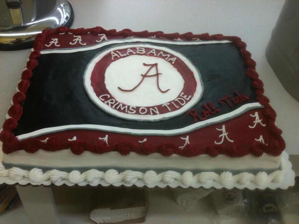 Terrific Alabama Crimson Tide Cake Alabama Cakes Alabama Crimson Tide Personalised Birthday Cards Veneteletsinfo