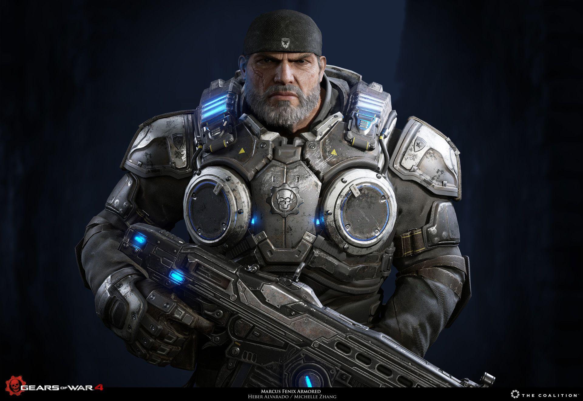 Artstation Marcus Fenix Gears Of War 4 Heber Alvarado