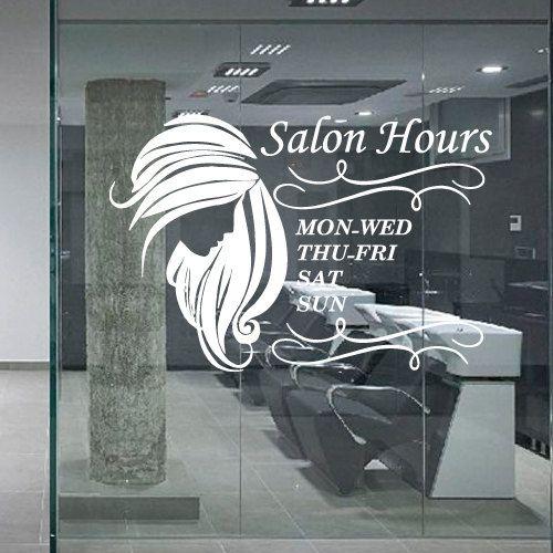 Wall decal decor decals art hair salon beauty by decorwalldecals hair salon salons - Stickers salon design ...