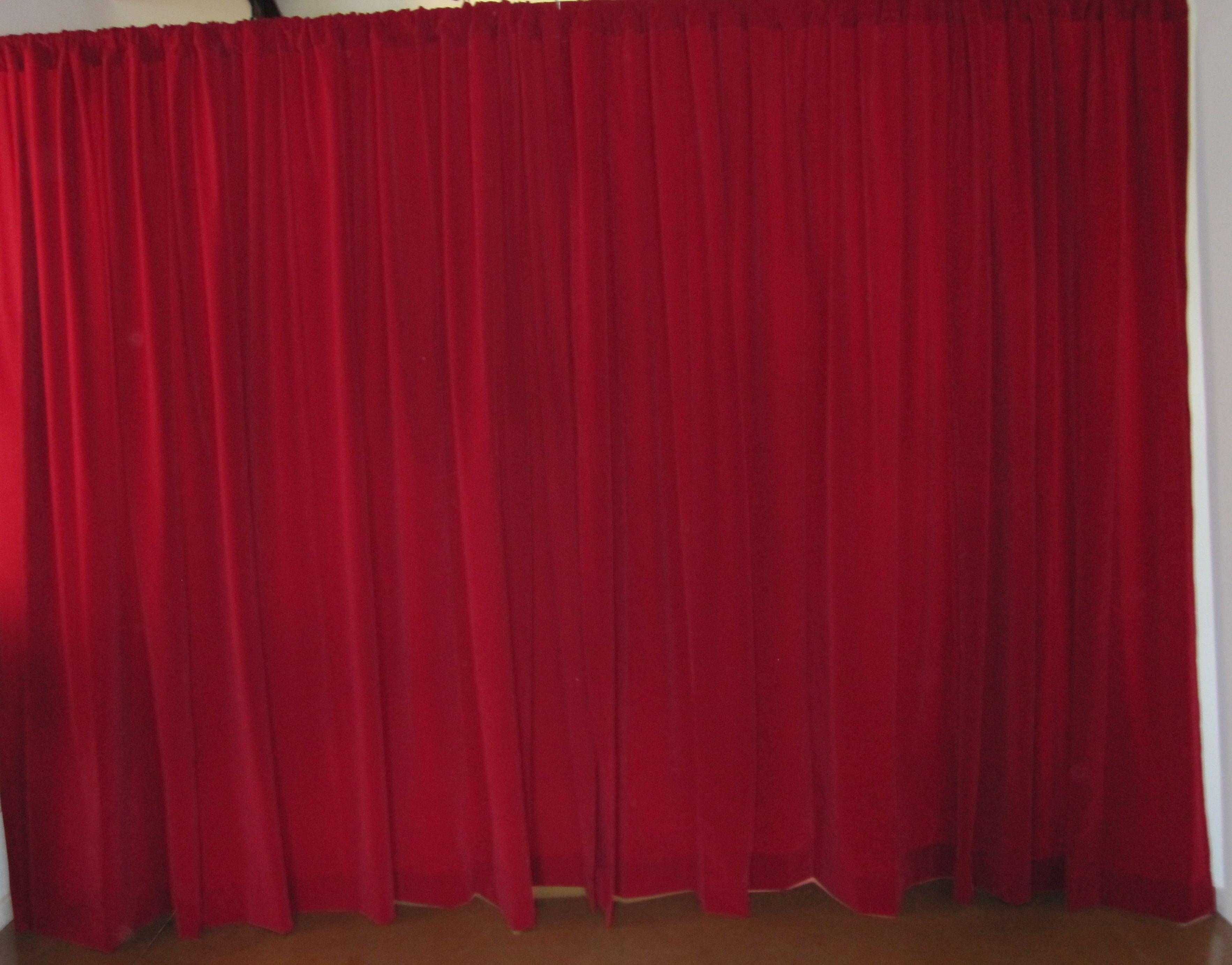 red photo velvet ttatty curtain depositphotos stock curtains