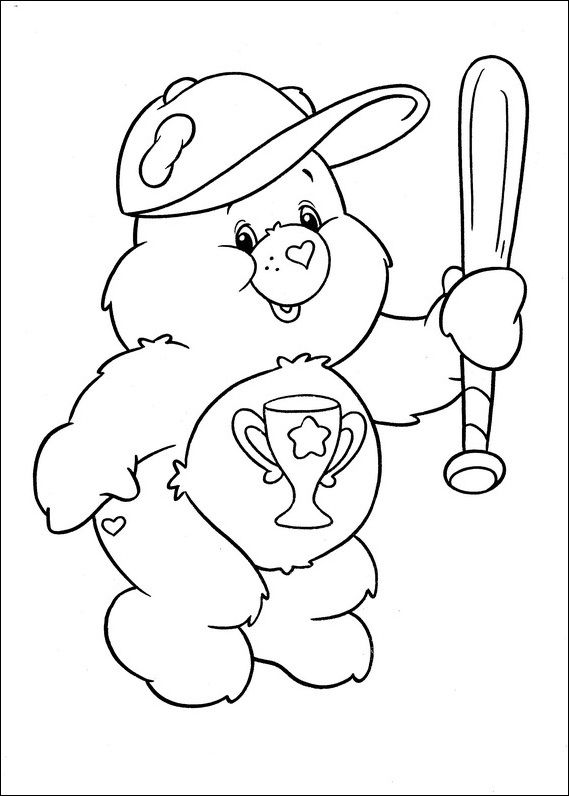 Care Bears Indeed Baseball Bat Coloring Pages For Kids D6r Printable Care Bears Coloring Pages For Kid Bear Coloring Pages Coloring Pages Bat Coloring Pages