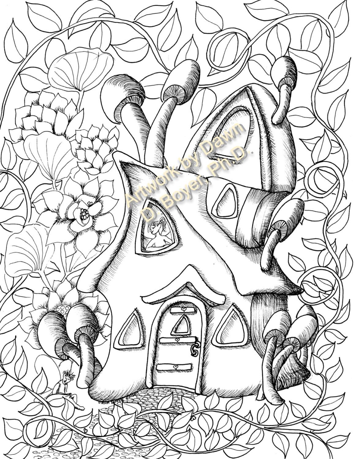 fairy houses and fairy doors vol 3 and 4 individual coloring