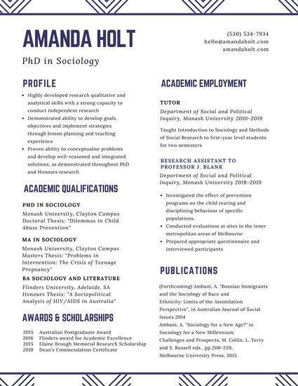 White Minimalist Academic Resume Life Pinterest - scholarships on resume