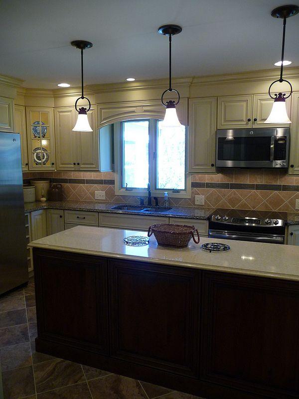 Inside Cabinets · Cabinet Lighting · Long Island · Kitchen Remodel, Long  Island, Tile Back Splash, Linear Tile Accent On Back Splash