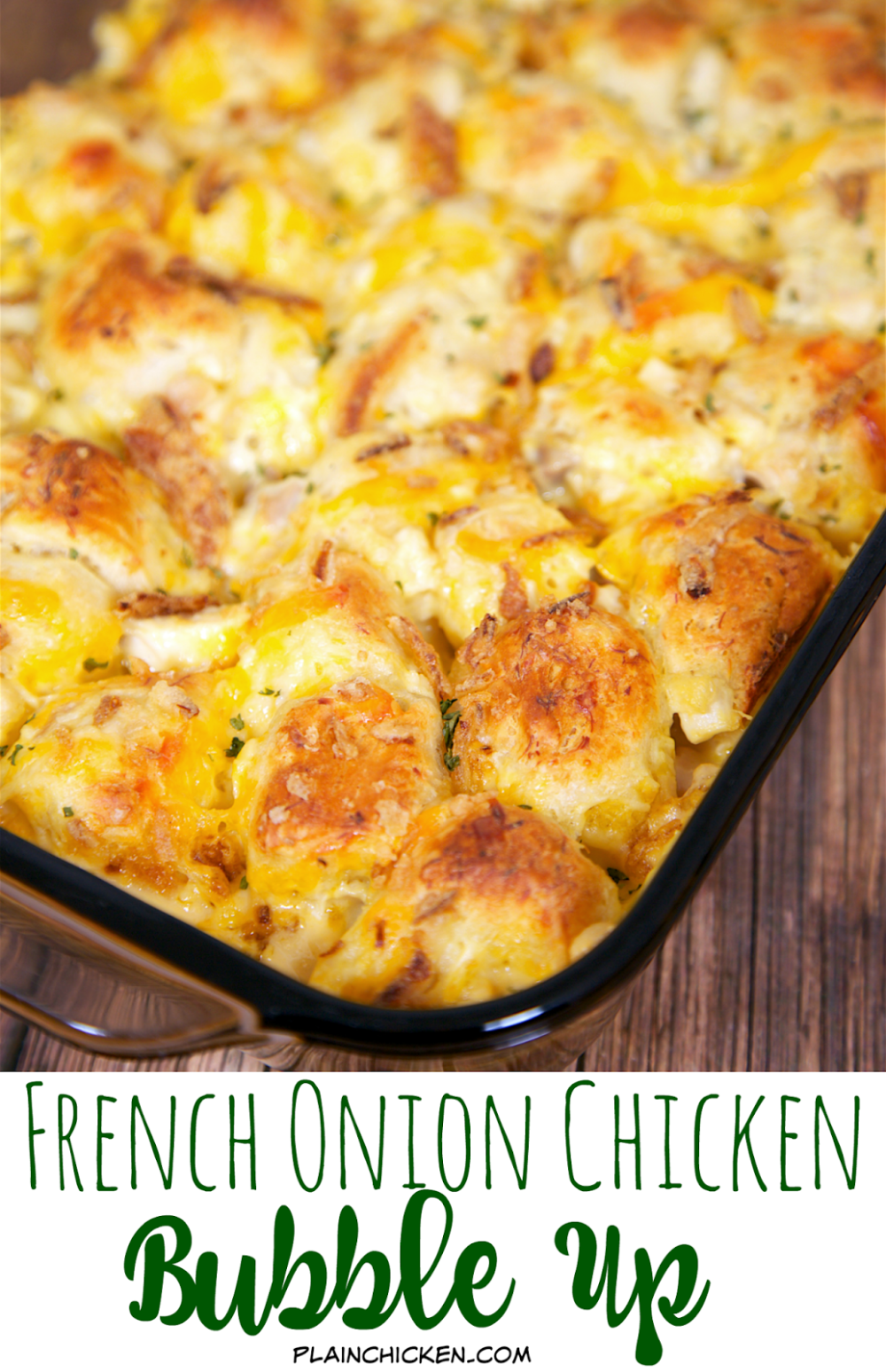 French Onion Chicken Bubble Up #howtofryonions