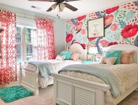 A Poppy Girl Removable Wallpaper Bedroomideas Bedroom