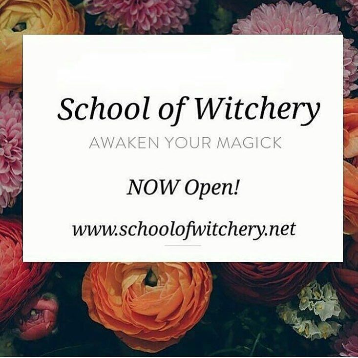 Have you heard about theschoolofwitchery? This is