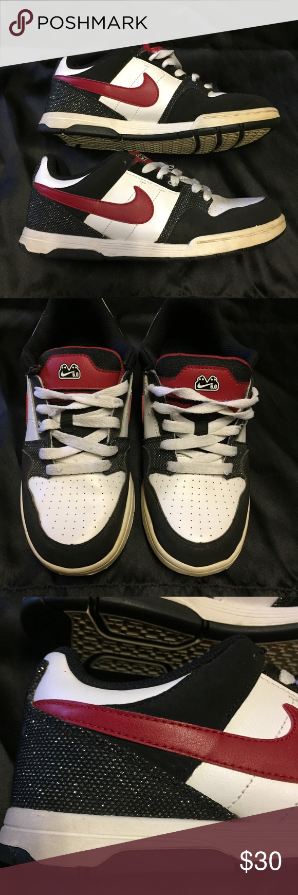 6d02522683aae Nike 6.0 Morgan JR shoes Super cute Nike shoes size 5.5Y in excellent  condition. The laces have a couple snags but not bad. The backs are sparkly.