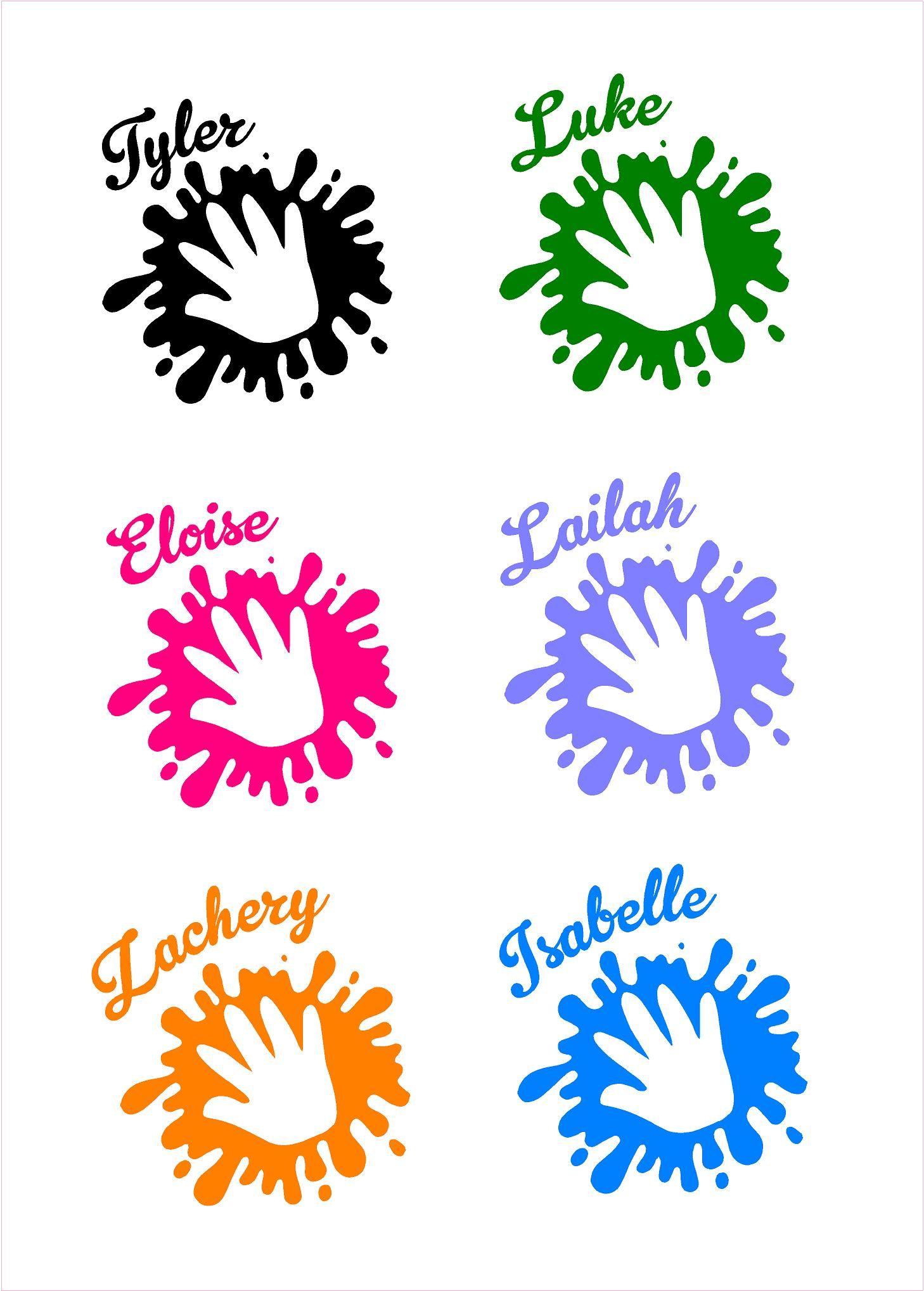 Safety Spot Magnet Kids Handprint For Car Parking Safety Black S