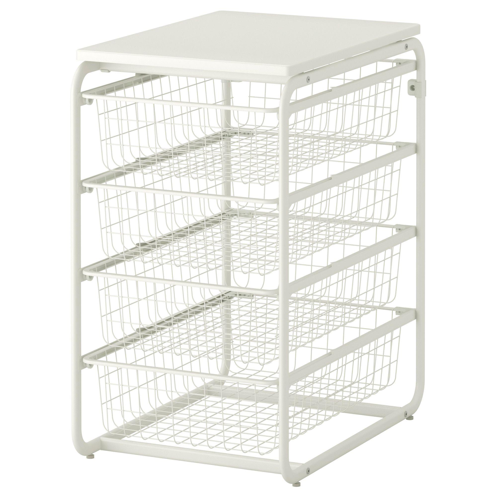 algot frame 4 wire baskets top shelf ikea shelves n. Black Bedroom Furniture Sets. Home Design Ideas