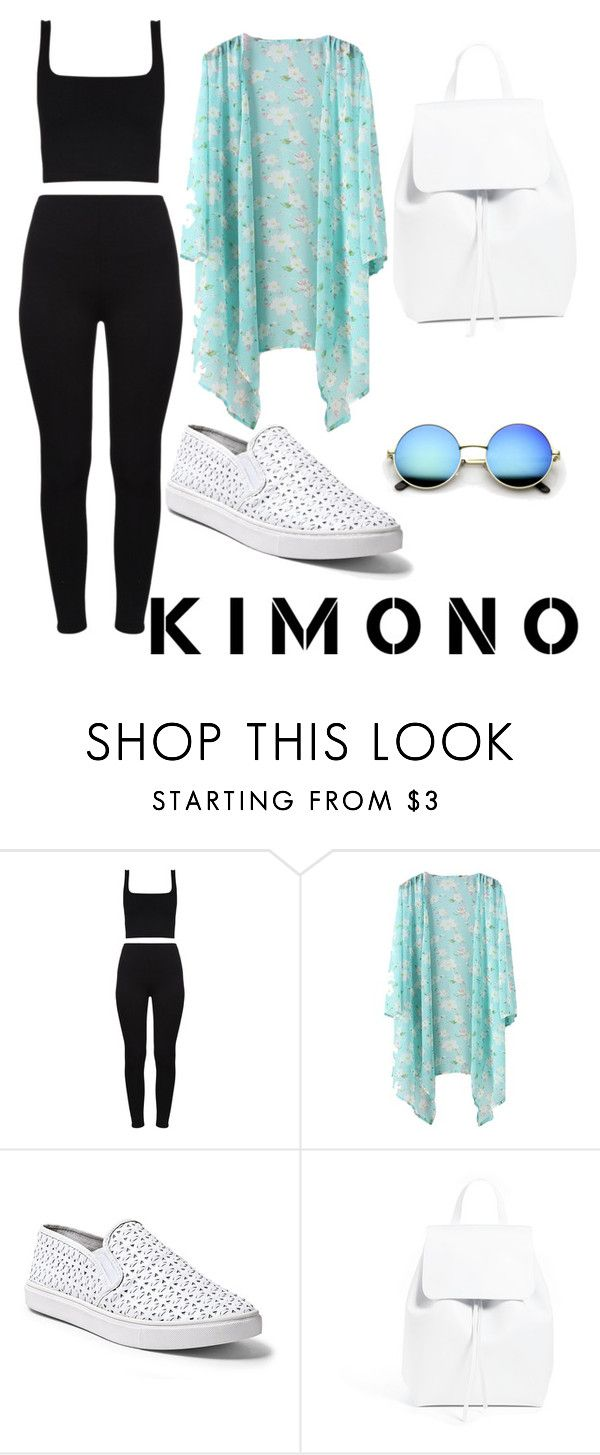 """""""Untitled #227"""" by oriana1221 ❤ liked on Polyvore featuring Steve Madden, Mansur Gavriel and kimonos"""