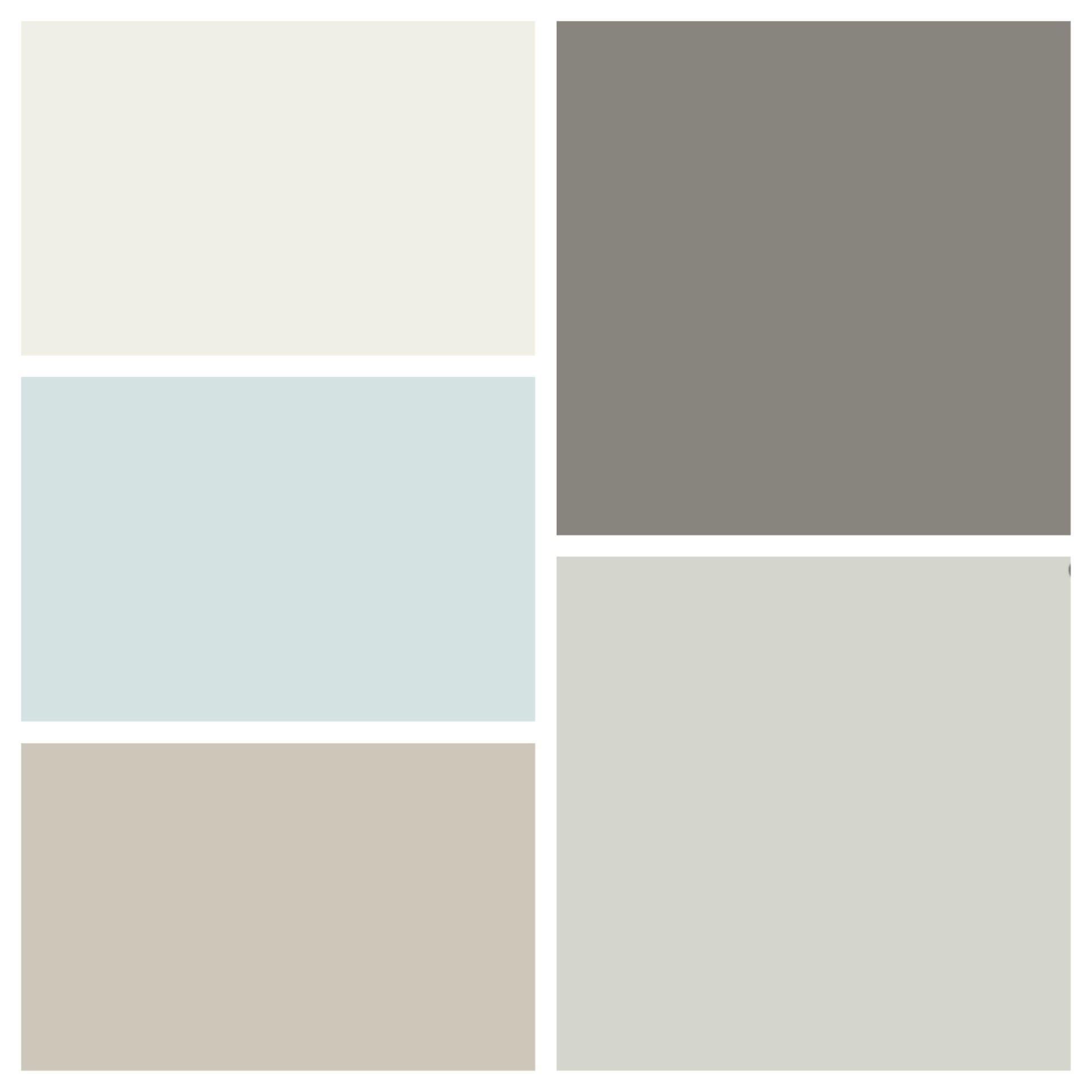 New House Color Scheme (clockwise From Top Left): Benjamin