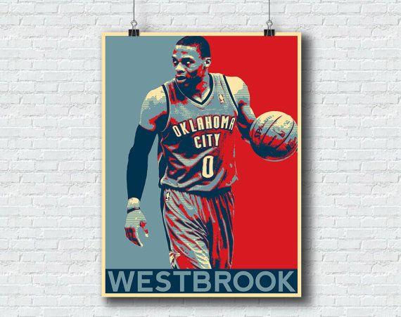 Russell Westbrook Print   Oklahoma City Thunder Basketball Printable Wall  Art Home Decor Hope NBA Print