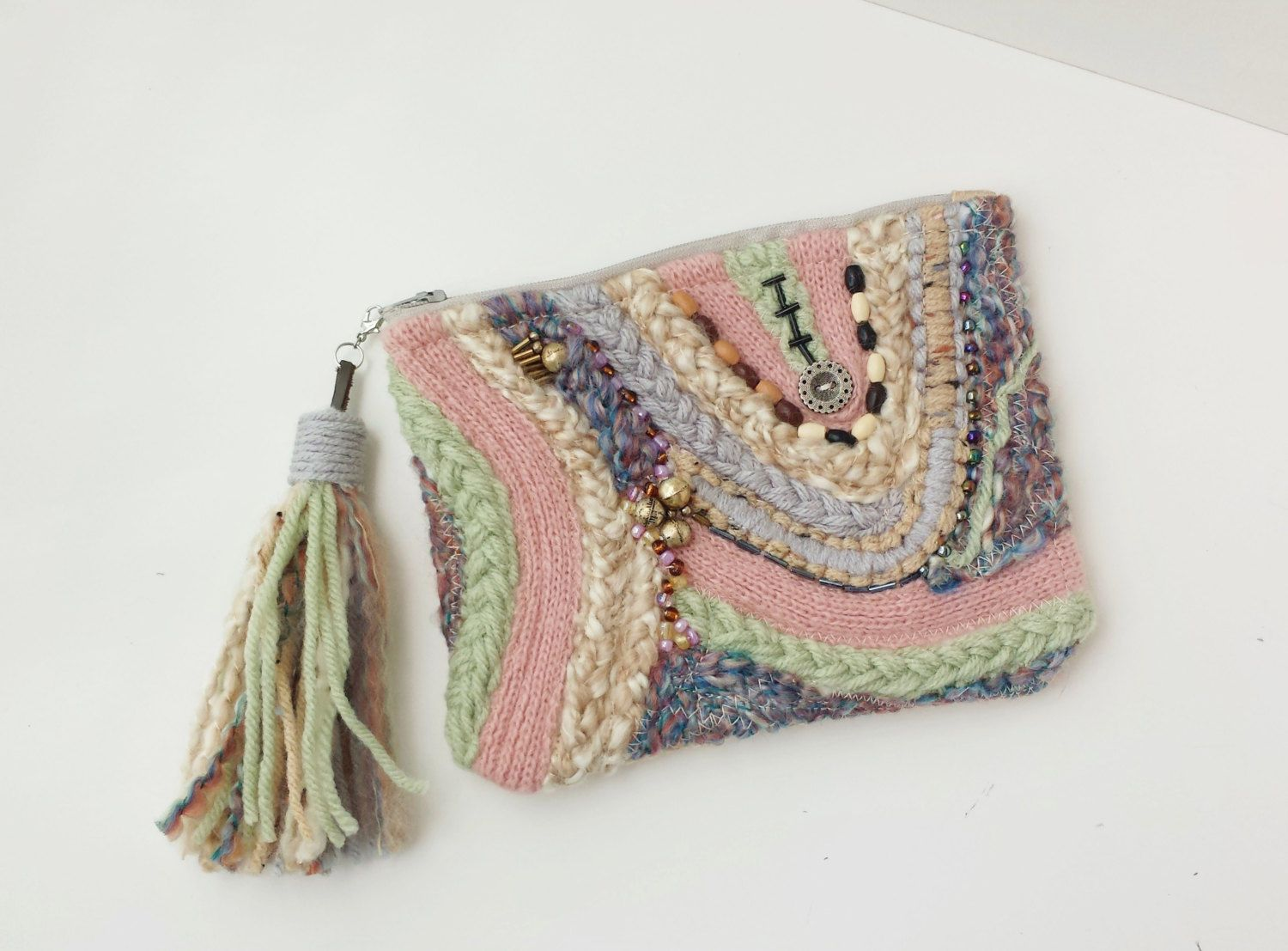 Fiber Art bag Hand Woven Cosmetic bag Makeup pouch Gift for her Boho Artsy Fairy Accessories Purse Etsy gift ideas by Saidonia Eco by SaidoniaEco on Etsy https://www.etsy.com/ca/listing/260512152/fiber-art-bag-hand-woven-cosmetic-bag