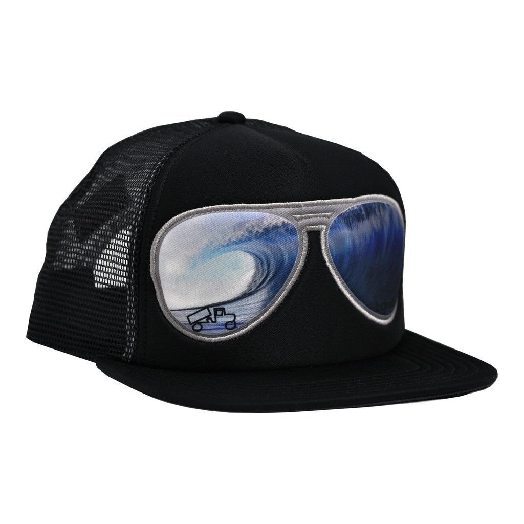 Big truck brand og flat sublimated hat big wave black