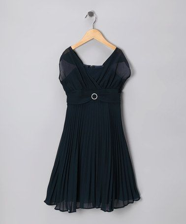Take a look at this Navy Dress - Toddler & Girls by Sophia Young on #zulily today!