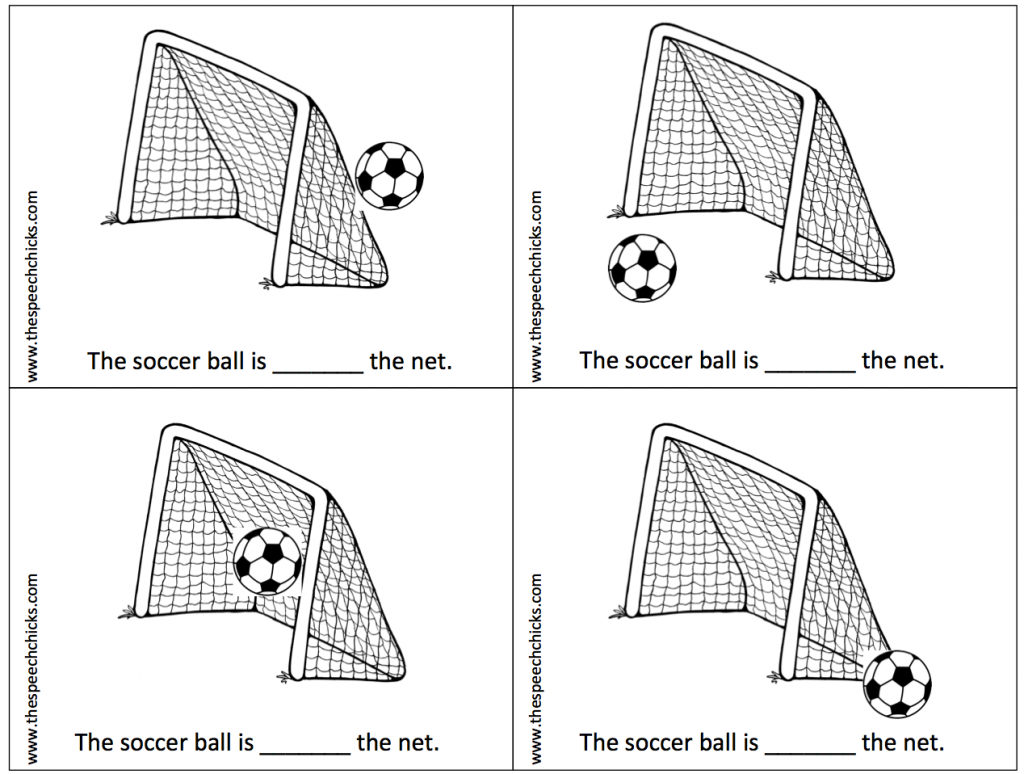 Soccer Themed Pronouns And Prepositions
