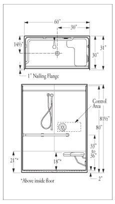 shower stall hand rail google search
