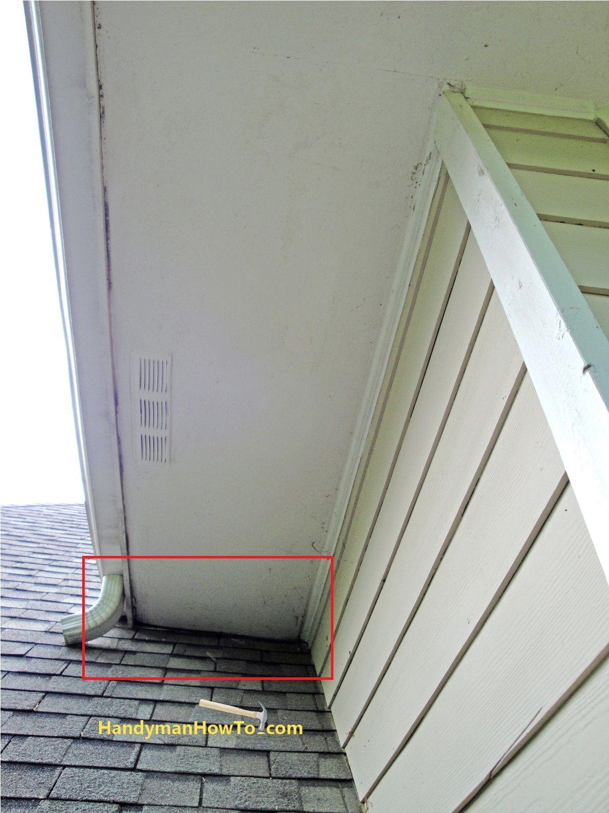Rotted Fascia And Soffit At Roof Junction Home Repairs Diy Home Repair Repair